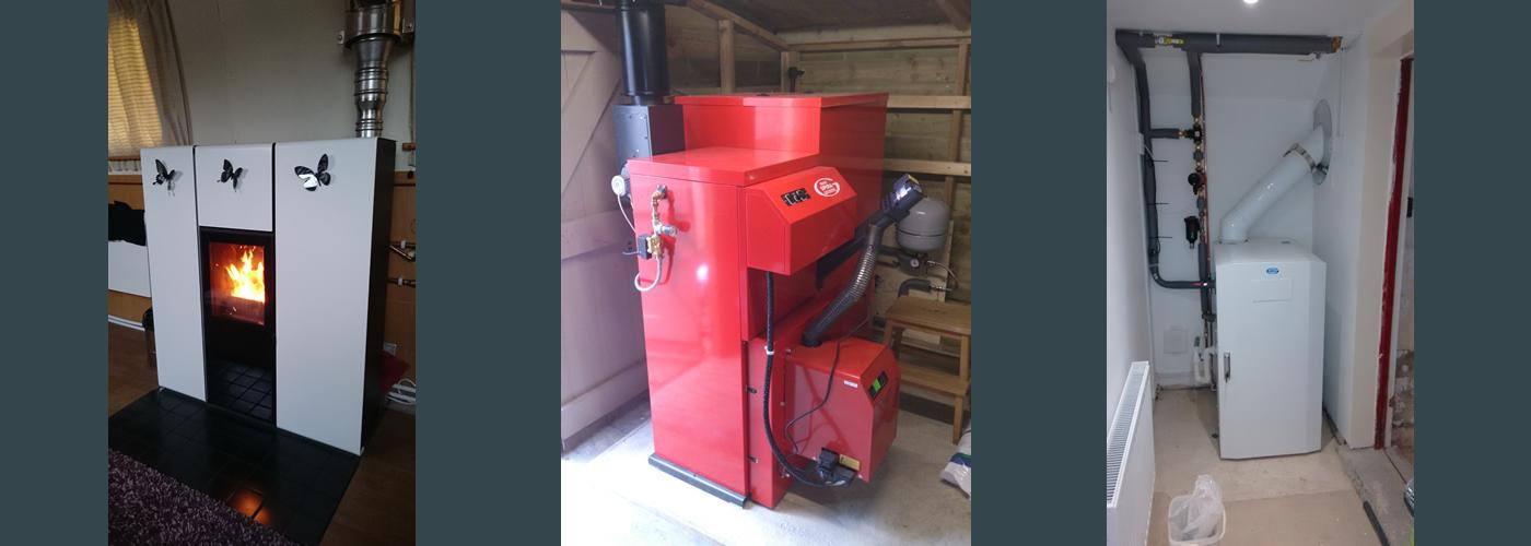 Biomass pellet boilers