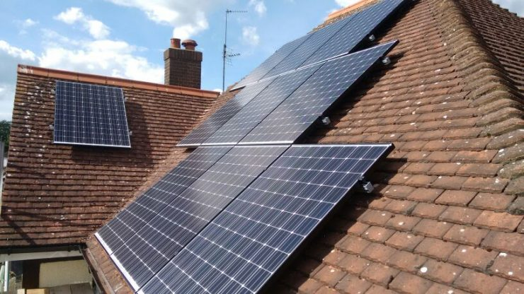 4 bed solar installation clapham bedford
