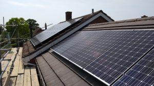 5 bed solar panel install Gt Barford