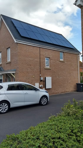 Solar PV, Tesla Battery & Electric car combo